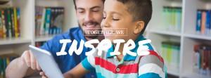 Together We Inspire_teacher in school tablet